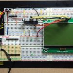 「グラフィック表示液晶モジュール 2P-S60779」基板 ブレッドボード上でPICに接続