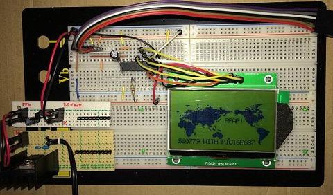 「グラフィック表示液晶モジュール 2P-S60779」文字も表示