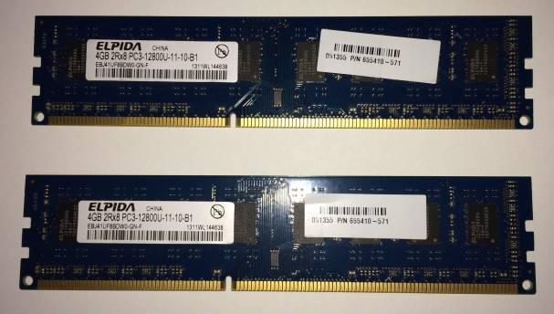 DDR3メモリー8G買いました。Win10がサクサクに! 4Gではやはり不足!