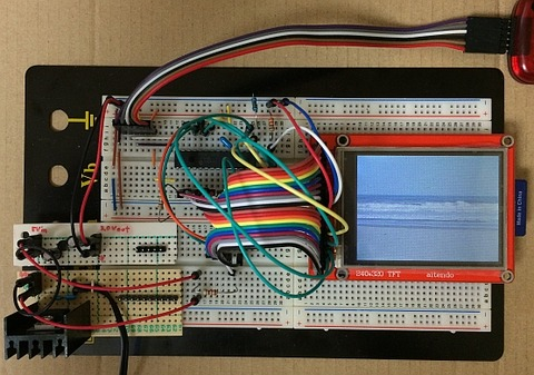 C言語でPIC18F、SDカードの画像ファイルをLCD(M028C9325TP)に表示