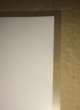 ダイソー(100均)のクリアホルダー(クリアファイル) A4 10枚入り 半円切り欠き部分
