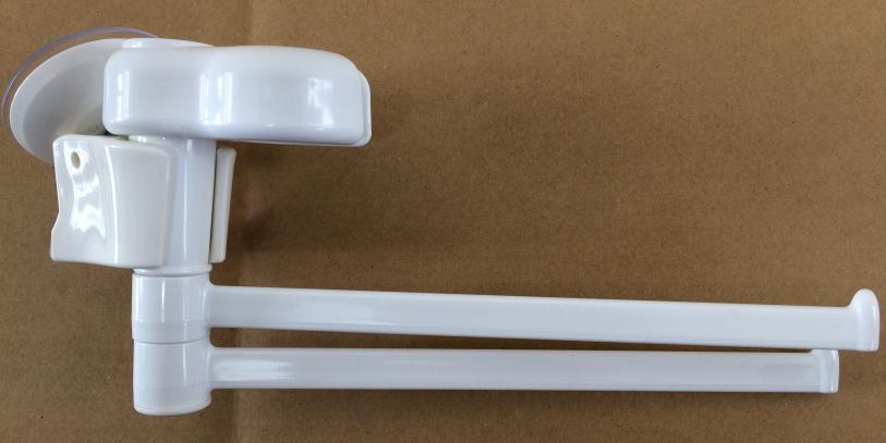 ダイソー(100均)のシャワーホルダー用タオル掛けとレバー式吸盤シャワーホルダーで吸盤式タオル掛けが完成