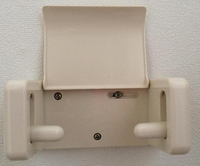 イレットペーパーホルダー ウォシュレットリモコン 取付前 ネジ部分