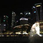 シンガポール一人旅、マリーナベイサンズからの夜景、オーチャードなどを見に行ってきました。