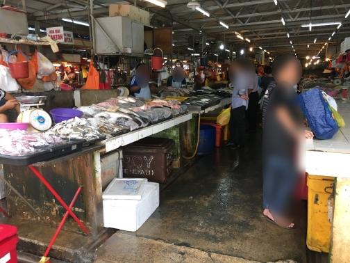 チョウキットマーケット(Chow kit market)魚