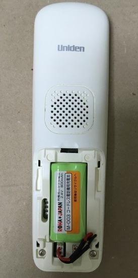 ユニデンのDECT2570 電池取付