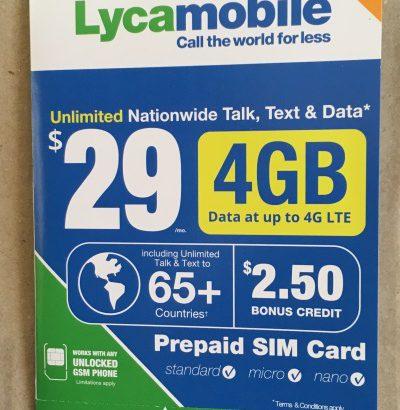 先日利用したアメリカで使える現地SIM Lycamobileが便利でした