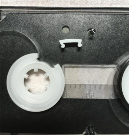 オーディオテクニカの音声入カセット・クリニカ AT5009 ハブ破壊