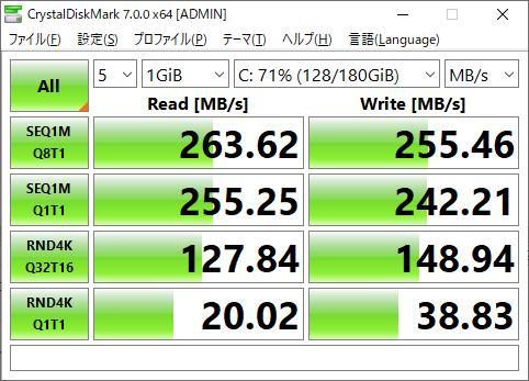 UM-SSD25S330-240 ベンチマーク