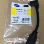 ラズパイ用にHDMI-L型変換ケーブル (miniHDMI-HDMI) 買いました。