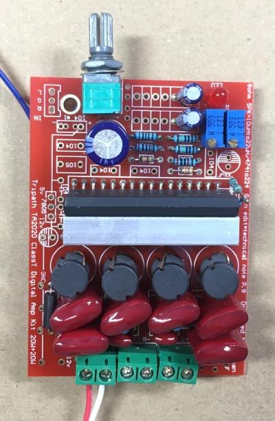 NFJ TA2020-020デジタルアンプキットの改造 表面