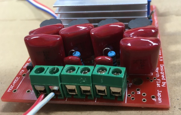 NFJ TA2020-020デジタルアンプキットの改造 ポリプロピレンフィルムコンデンサ