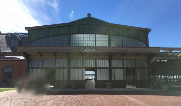 リバティー州立公園(Liberty State Park)の鉄道ターミナル(Railroad Terminal) からのフェリー乗り場