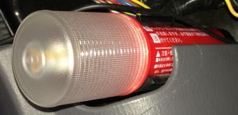 非常信号灯 発炎筒のホルダーにそのまま設置