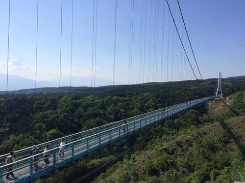 三島スカイウォーク 展望台から吊り橋