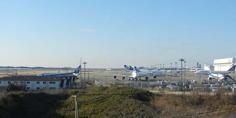 成田 の 航空科学博物館 展望エリアから見る成田国際空港