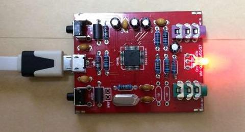 「 マイク入力付きDACヘッドホンアンプ [K-108CS]」 LEDが赤に光ったとき