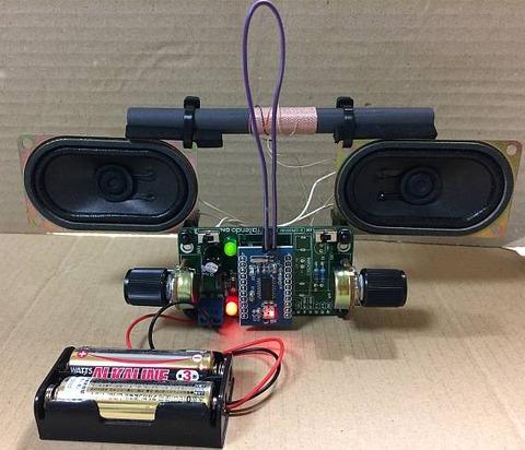 DSPコアTINYラジオキット K-SPK6959B C版 ステレオ化して フェライトバーアンテナ化