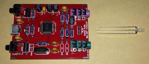 「 マイク入力付きDACヘッドホンアンプ [K-108CS]」 のLEDの取り付け方向