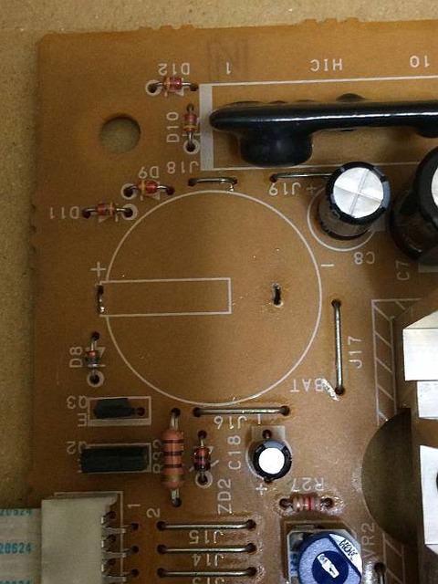 象印炊飯器 NH-JA05 時計 バックアップ電池 取り外し