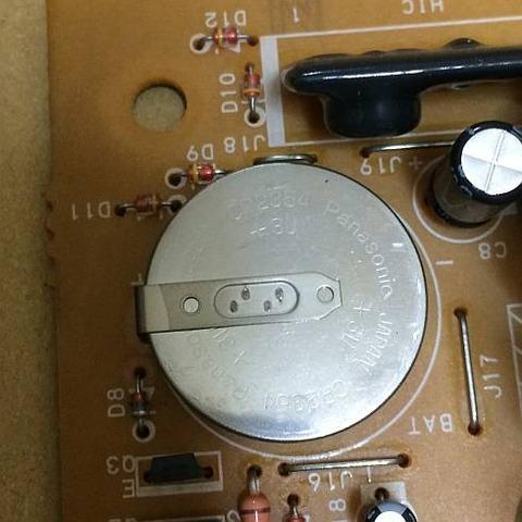 象印炊飯器 NH-JA05 時計 基板のバックアップ電池