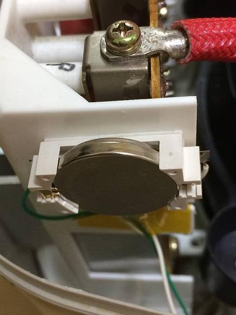 象印炊飯器 NH-JA05 時計 バックアップ電池交換 ホルダ取付