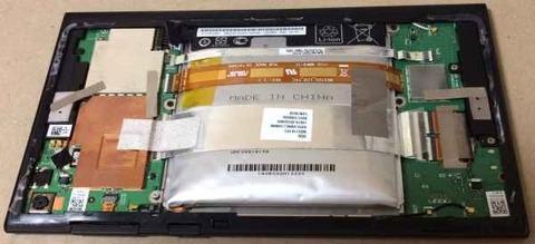 MeMO Pad 7 ME572CL バッテリー膨張