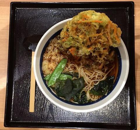 そば処信州屋(新宿南口店)の「かき揚げ天そば」を食べました。