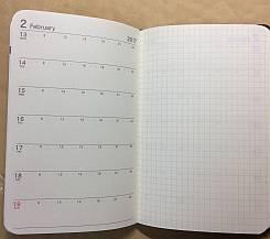 購入したダイソー(100均)の2017年手帳のメモ欄