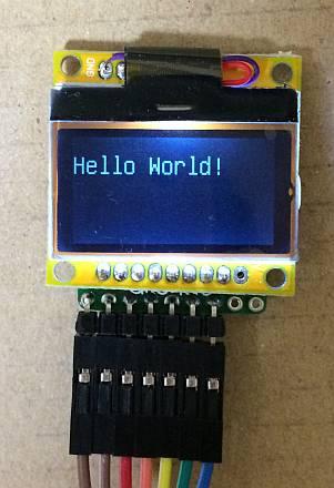 びんぼうでいいの with LCD [U3RLCD12864S]」 Arduino UNO互換機 の Hello World! の表示