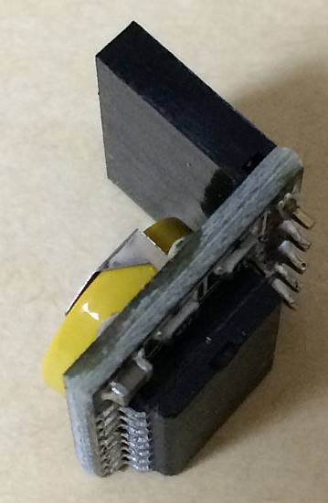 HiLetgo 3.3V/5V DS3231 高精度 RTC モジュール リアルタイム クロック モジュール 外観 横から