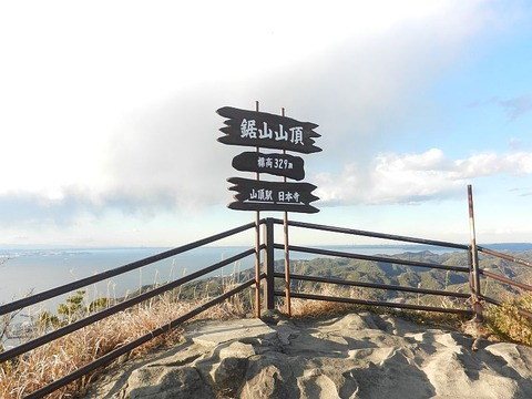 富士山を見に鋸山へ
