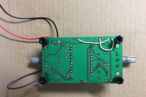 最強版DSPコアTINYラジオキット K-SPK6959B C版」基板裏面にジャンパー
