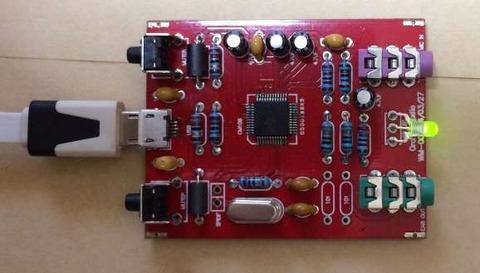 「 マイク入力付きDACヘッドホンアンプ [K-108CS]」 LEDが緑に光ったとき